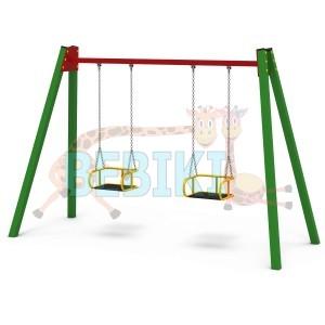 Дитячі гойдалки подвійні на ланцюгах